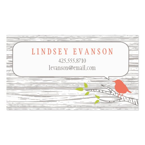 Bird in a Birch Tree Calling Card Business Cards