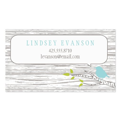 Bird in a Birch Tree Calling Card Double-Sided Standard Business Cards (Pack Of 100)