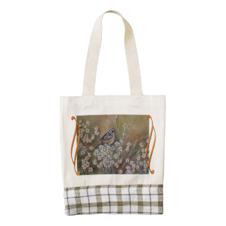 Bird in a Meadow Painting Tote