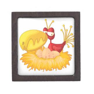 Bird in a nest premium keepsake box