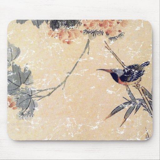 Bird in Bamboo Mousepad