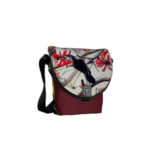 Bird in Coral Tree messenger bag