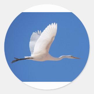 Bird in Flight Classic Round Sticker