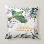 Bird in flight Illustration + Poem Pillow