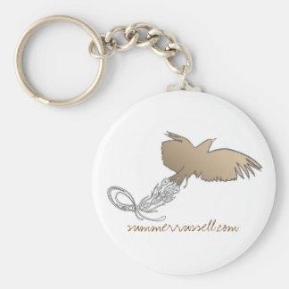 Bird in flight keychain