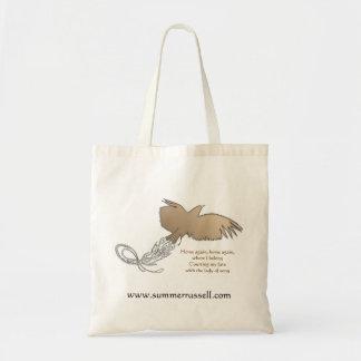 Bird in flight tote bag