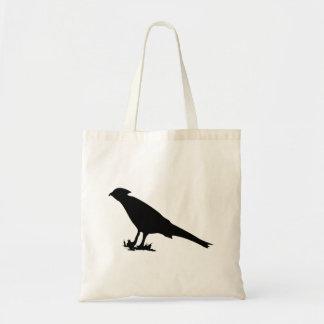 Bird In Grass Silhouette Tote Bag