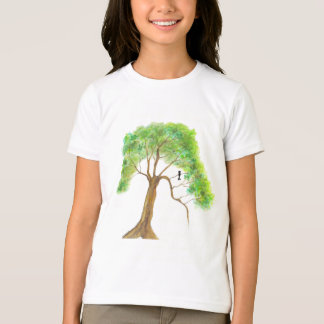 Bird In Green Tree Painting Dreaming Of Spring T-Shirt