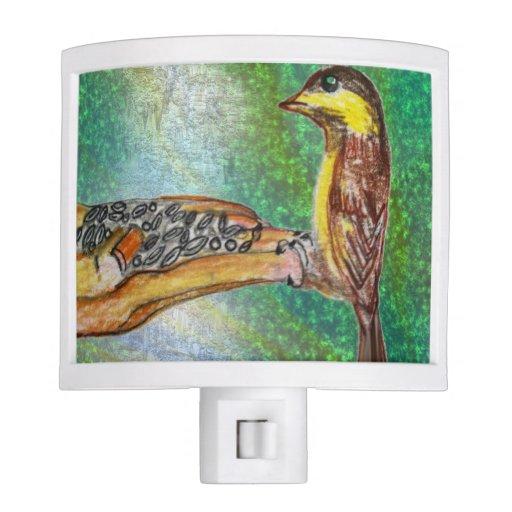 Bird in hand night light - Birdhouse nightlight ...