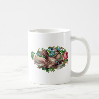 Bird in Hand Victorian Calling Card Coffee Mug