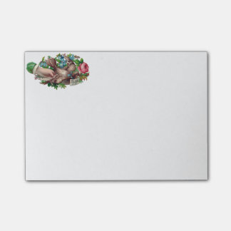 Bird in Hand Victorian Calling Card Post-it® Notes