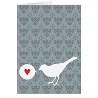 Bird in Love greeting card
