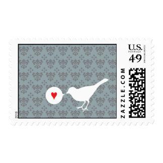 Bird in Love postage