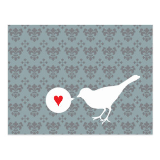 Bird in Love postcard