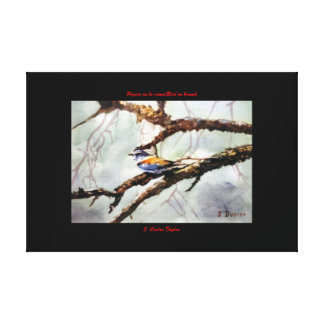 Bird in the branch/Bird on branch Canvas Print