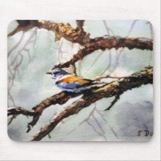 Bird in the branch/Bird on branch Mouse Pad