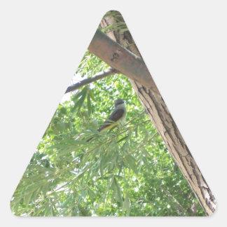 Bird in the Branches Triangle Sticker