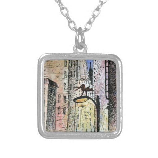 bird in the city necklace