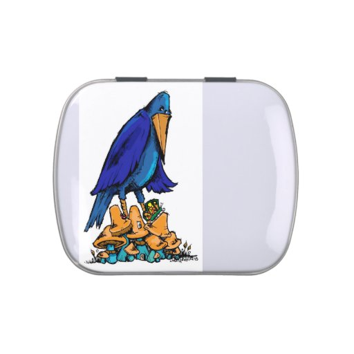 Bird in the Mushroom patch Jelly Belly Tin