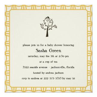 Bird in Tree Baby Shower Invitation