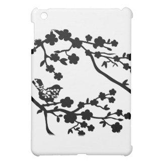 Bird in tree black iPad mini case