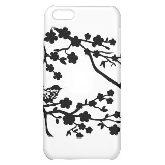 Bird in tree black iPhone 5C cover