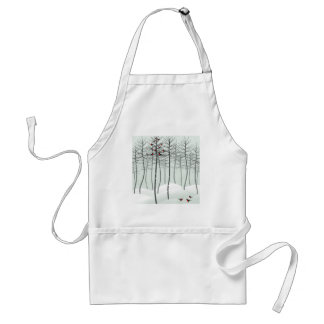 Bird in wood adult apron