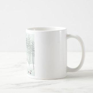 Bird in wood coffee mug