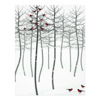 Bird in wood letterhead