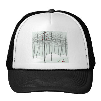 Bird in wood trucker hat