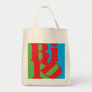 BIRD insignia cotton grocery bag