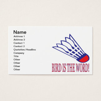 Bird Is The Word 2 Business Card