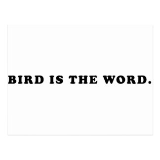 Bird Is The Word Postcard