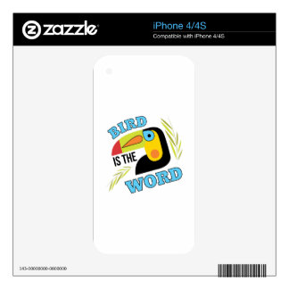 Bird Is The Word iPhone 4S Skin