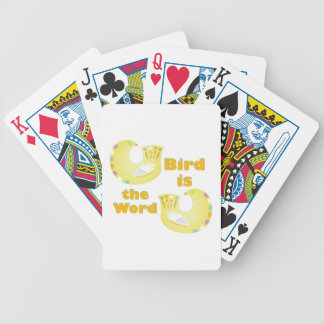 Bird Is Word Bicycle Playing Cards