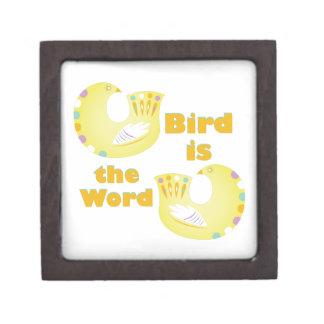 Bird Is Word Gift Box
