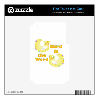 Bird Is Word iPod Touch 4G Decal