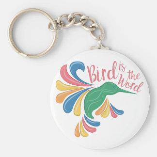 Bird Is Word Keychain