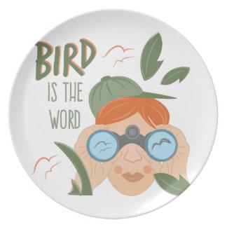 Bird Is Word Plates