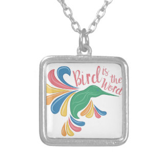 Bird Is Word Silver Plated Necklace