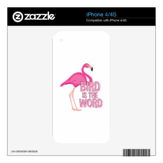 Bird Is Word Skin For iPhone 4S