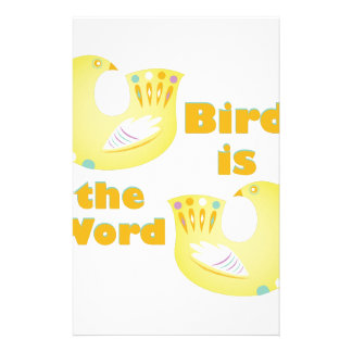 Bird Is Word Stationery