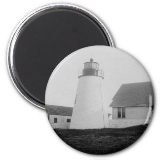 Bird Island Lighthouse 2 Inch Round Magnet