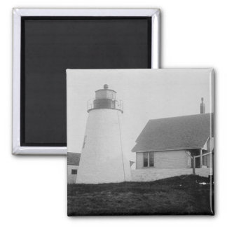 Bird Island Lighthouse 2 Inch Square Magnet