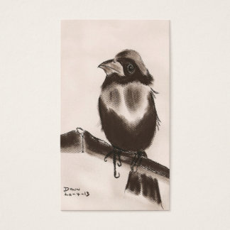 bird - japanese style art business card