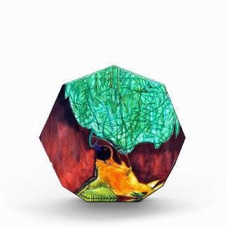 Bird Knitting Nest Acrylic Award