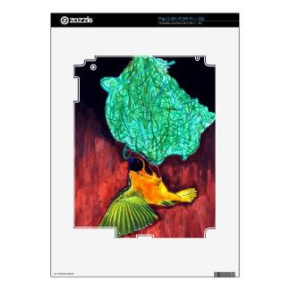 Bird Knitting Nest iPad 2 Skins