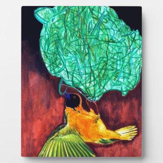 Bird Knitting Nest Plaque