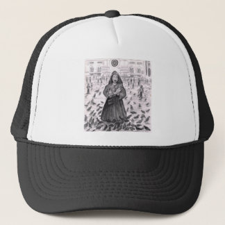 Bird Lady Fun with the Pigeons Trucker Hat