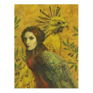 Bird Lady Mutant Design Postcard